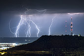 Thunderstorm in Spain. Numerous thunderstorms developed over Portugal and then made their way to Valladolid in Spain by nightfall.