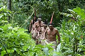 Maleku Indians, there are only about 600 of these indigenous people left, they are one of the pre-Columbian peoples who still preserve their traditions today, Palenke Magarita, Costa Rica, Central America