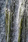 Waterfall and tufa deposits, Ruisseau du Peyssieux, Ain, France