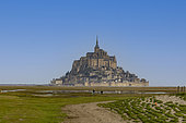 Bay of Mont-Saint-Michel, classified World Heritage by UNESCO, from the village of La Rive, Manche, France