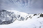 Snow covered Ridges, at the great Hohneck, Vosges, France