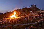 Solstice fire, Sonnenalm, Kampenwand, Germany, Europe