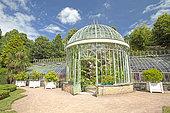 Greenhouse, Park of Ravalet Castle, Cherbourg-en-Cotentin, Normandy, France