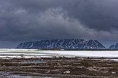Smeerenburg Fjord, Amsterdamoya, Spitsbergen, Svalbard Islands, Norway.