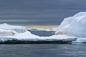 Vibebukta, Austfonna, Nordaustlandet, Svalbard Islands, Norway.
