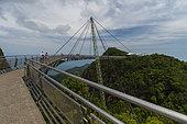 A view of Langkawi sky bridge, Langkawi island, Malaysia