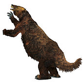 Megatherium ground sloth, white background. Megatherium was a herbivorous Giant Ground Sloth that lived in Central and South America during the Pliocene and Pleistocene Periods.