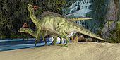The Olorotitan was a duckbilled dinosaur from the Late Cretaceous and was found in Russia.