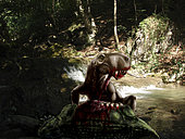 An Inostrancevia eating the flesh of a dead Scutosaurus.