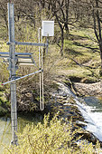 Flood monitoring and warning system on the Calavon, Luberon, France