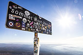 Old summit panel of Mont Ventoux, Provence, France