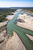 The Durance River just downstream from Cavaillon, Luberon Regional Nature Park, France