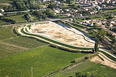Creation of a flood expansion zone on the banks of the Calavon in Cavaillon, Parc Naturel Régional du Lubéron, France