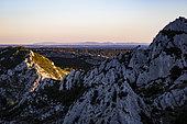 Landscape of the Alpilles Regional Nature Park, Bouches-du-Rhône, France