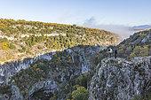 Oppedette Gorges in autumn, Luberon Regional Nature Park, Sensitive Natural Area, Alpes de Haute Provence, France