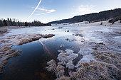 Frozen Lac des Mortes, Chapelle-des-Bois, Doubs, France