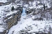 Gran Paradiso National Park in winter, Aosta Valley, Italy.