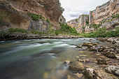 Lumbier Canyon, carved by the Irati River, Navarre, Spain