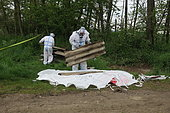 Cleaning of asbestos cement dumps, France