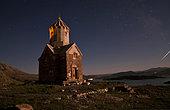 Starry night sky above Dzordza church, Azarbaijan Province, Northwestern Iran.