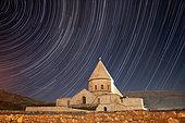 Star trails above Saint Thaddeus Monastery, Azarbaijan Province, Northwestern Iran.