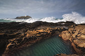 Godrevy Lighthouse in Cornwall, England.