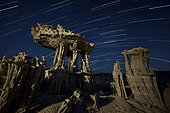 One of the many incricate sand tufa formations that can be found along the shores of Mono Lake, California.
