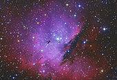 A narrow but deepfield view of the Pacman Nebula, NGC 281.