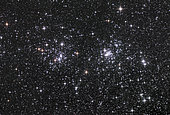 The Double Cluster, NGC 884 and NGC 869, as seen in the constellation of Perseus.
