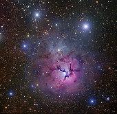 The Trifid Nebula located in Sagittarius.