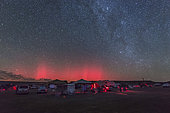 A rare aurora display over Okalahoma during the Okie-Tex Star Party.