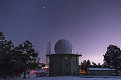 A defunct Air Force Station radar tower still stands at Mount Lemmon Observatory near Tucson, Arizona. A remnant of the Cold War.
