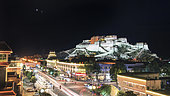 Conjunction of Venus and Jupiter above the Potala Palace in Lhasa, Tibet, China.