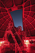 Inside view of a 60-inch telescope at Mount Wilson Observatory, California, USA.