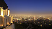 The cityscape of Los Angeles as captured from Griffith Observatory, California, USA.