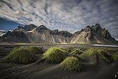 Vesturhorn Mountain in Iceland.