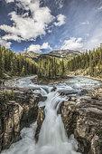 Sunwapta Falls, Jasper National Park, Alberta, Canada.