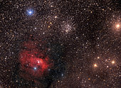The Bubble Nebula (NGC 7635) is a H II region emission nebula in the constellation Cassiopeia.