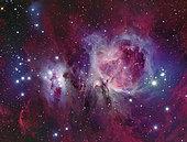 Messier 42, the Orion Nebula with reflection nebula NGC 1977.