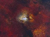 The Swan Nebula starforming region in the constellation Sagittarius.