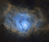 Inside the Lagoon Nebula, Messier 8.