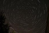 Star Trails around Polaris in the constellation Ursa Minor.