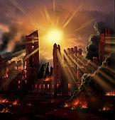 A solar flare, an enormous eruption on the Sun, has blasted the Earth.