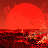 Billions of years from now, the Sun will expand into a red giant star, baking our planet in the process.
