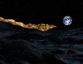 The peaks surrounding the Peary crater near the North Pole of Earth's moon have been called the Mountains of Eternal Light because the sun never sets on them.