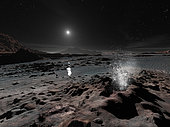 Pluto may have springs of liquid oxygen on its frozen surface.