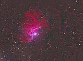 IC 405, The Flaming Star Nebula in the constellation Auriga.