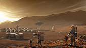 Future Mars colonists may have children who have never known the earthly blue skies of their parents origin but instead call Mars home.