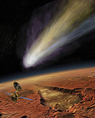 NASA's Mars Reconnaissance Orbiter has a ringside seat as the 2014 comet passes very close to Mars.
