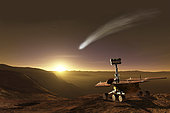 The comet of 2014 makes a close approach to Mars and puts on a spectacular show for the Opportunity Mars Exploration Rover.